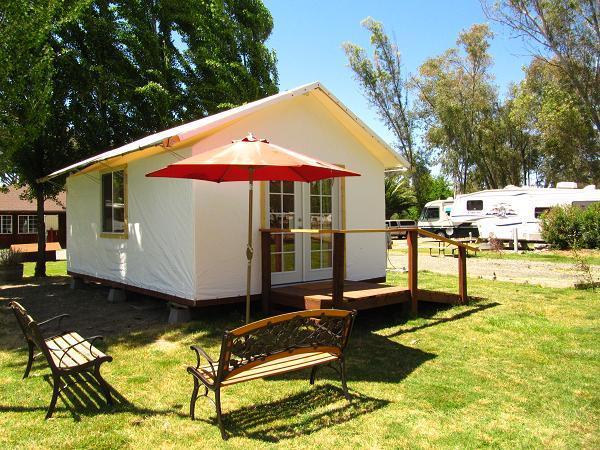Canvas Tent Cabins Vineyard Rv Park