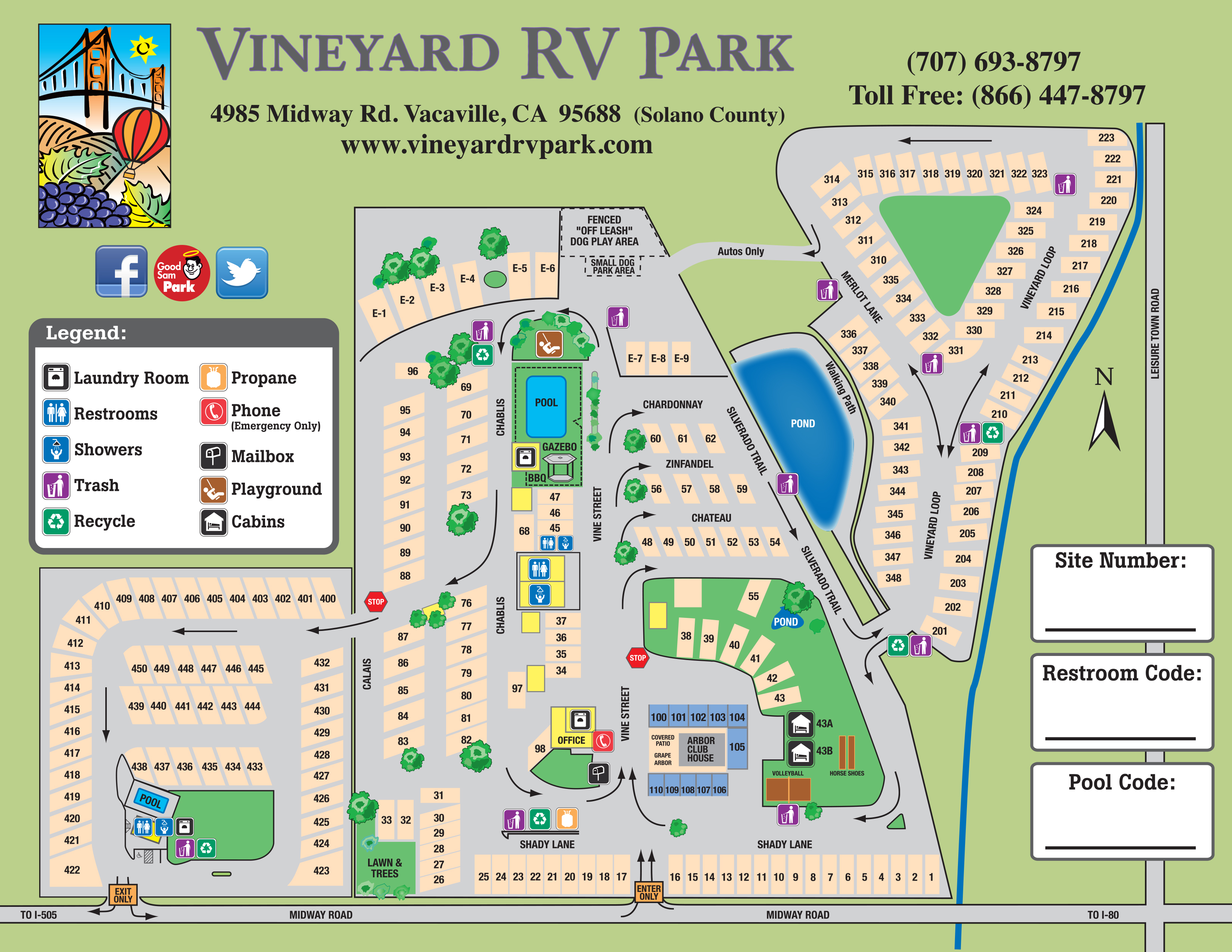 Facility Map Vineyard Rv Park